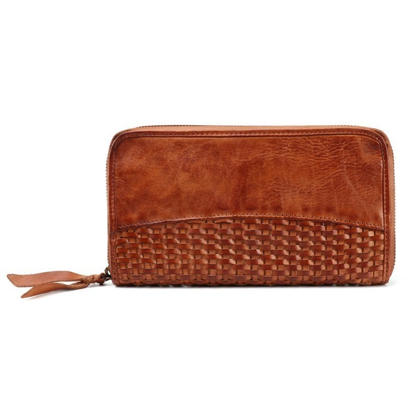 все цены на Rushed Genuine Leather Men Wallets Vintage High CapacityMen Purse Zipper Long Clutch Wallet Design Credit Card Holder Purse Bag