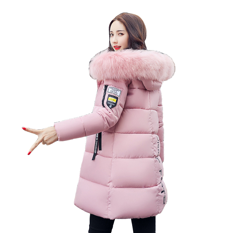Winter Coat Women 2017 New Women Parkas Winter Hooded Fur Collar Thickening Winter Jacket Women Clothes CC149 2017 winter new clothes to overcome the coat of women in the long reed rabbit hair fur fur coat fox raccoon fur collar