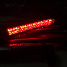 Newbee 12V Red LED Car Third Brake Light Bar External Light Source Fog Stop Truck Tailgate High Mount Rear Roof Warning Lamp(China)