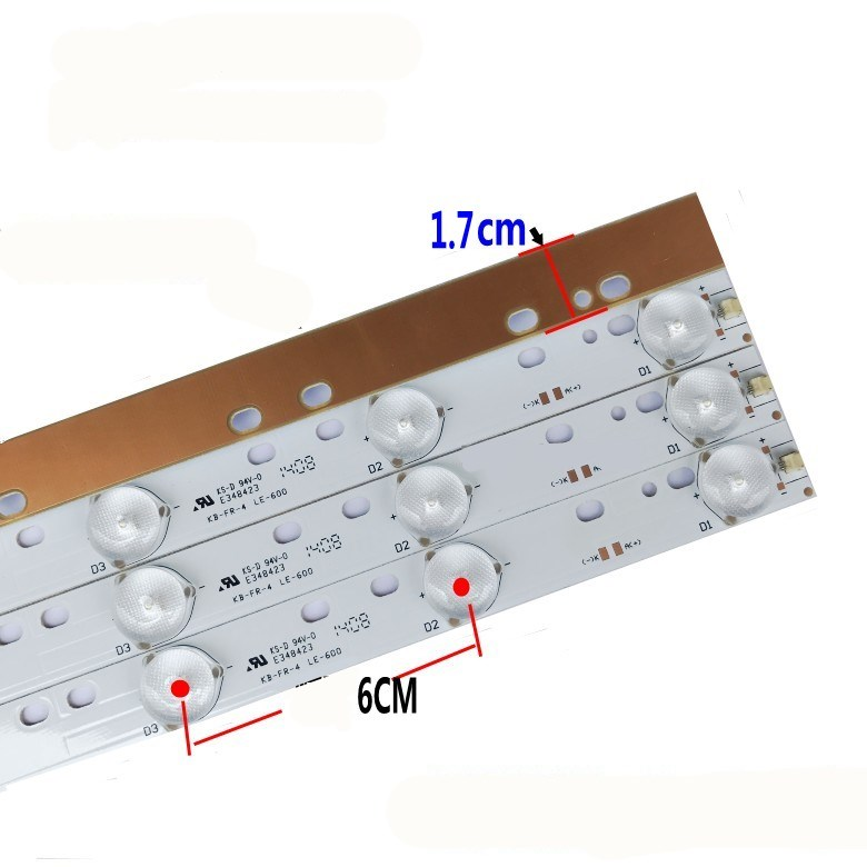 Lights & Lighting Considerate 10pcs 32 570mm*17mm 10leds Led Backlight Lamps Led Strips W/ Optical Lens Fliter For 32 Tv Monitor Panel 30v New Ideal Gift For All Occasions Led Lighting