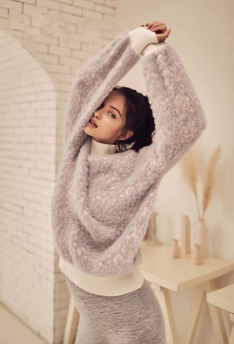 Pyjamas Women Limited Sale Unicorn Pajamas Womens Suit 2018 New Imitation Design Soft Thick High Collar Two piece Female Winter - 3