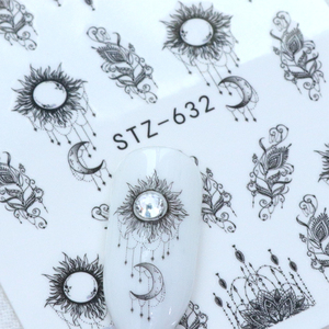 Image 3 - 1pcs Nail Art Sticker Water Transfer Decals Simple Dotting Flower Manicure Sliders Nail Art Decoration Watermark Wraps BESTZ643