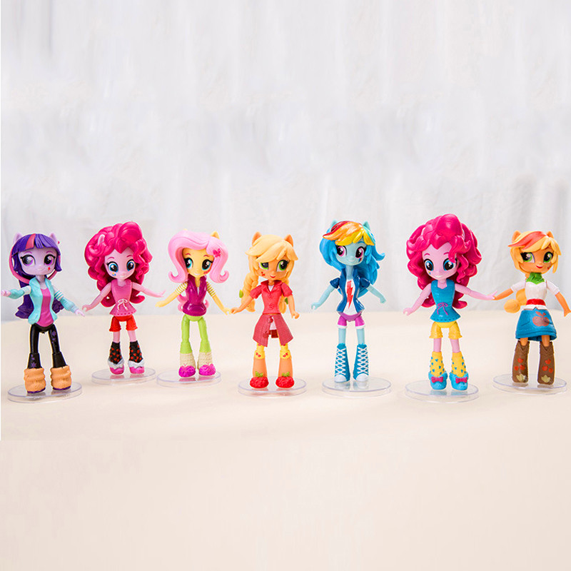 New 7Pcs Toy Figures Unicorn Collection Action Toy 13cm My Cute Little Toys Best Birthday Gifts For Girls