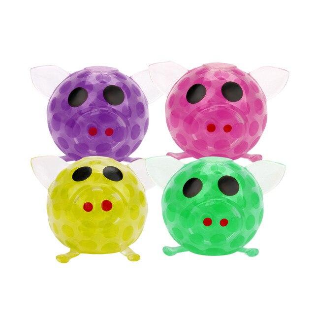 Novidade 7 centímetros reduzir o Estresse Bola Talão Pegajoso Grande Porco Espremendo Alívio do Estresse Brinquedos de alta qualidade