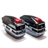 Universal Motorcycle Side Boxs Luggage Bracket Tank ABS Hard Case Saddle Bags