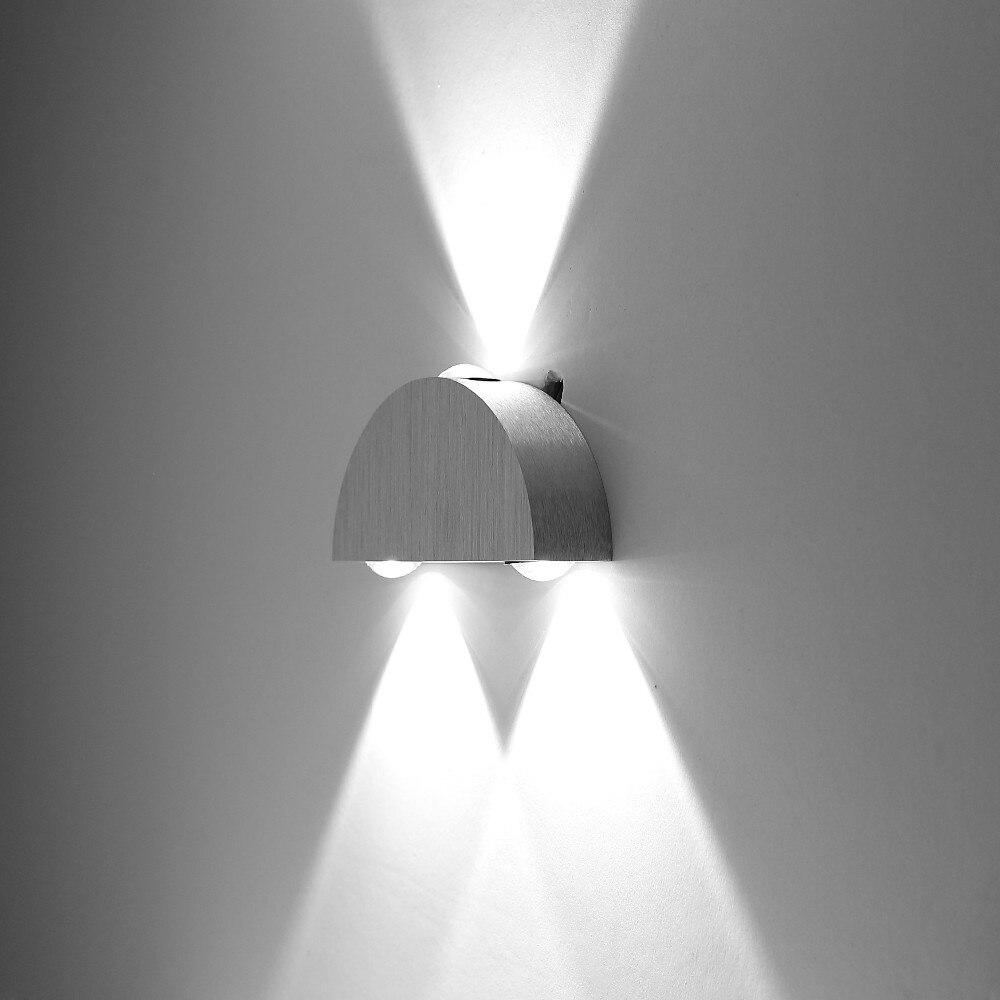 3W 85-265V AC Modern Simple Fashion Aluminum LED Wall Light Lamp Indoor Living Room Dining Room Bedroom for <font><b>Home</b></font> <font><b>Decor</b></font> Lighting
