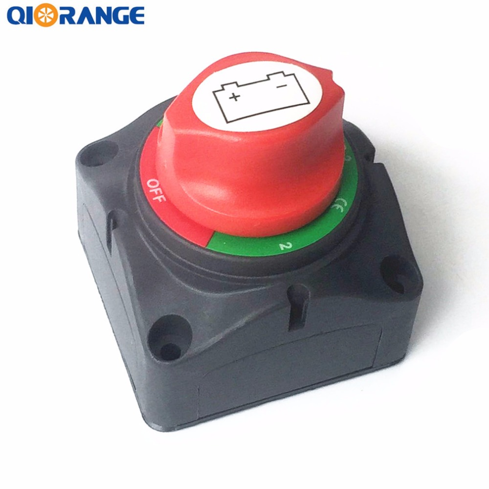 QIORANGE Battery Switches Disconnect Isolator Master 1-2-Both-Off Selector Switch for Marine Boat Car Rv Vehicles heavy duty 60v 600a marine dual battery selector switch for boat rv semi motor yacht boats red abd black page 5