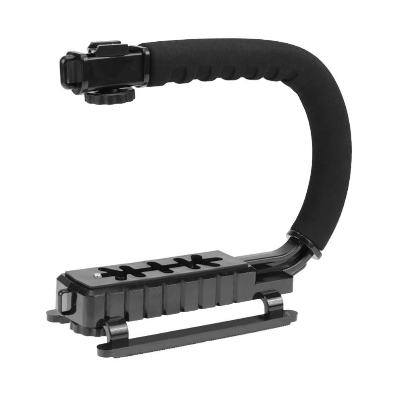 U-Grip Triple Shoe Mount Video Action Stabilizing Handle Grip Photography Accessory for Most Camera DV