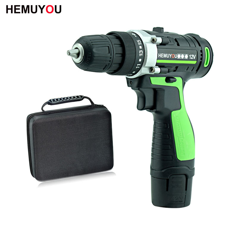 цена на 12V Handheld Electric Screwdriver Lithium Battery 2-Speed Electric Drill Rechargeable Mini Cordless Power Tools + Cloth Tool Bag