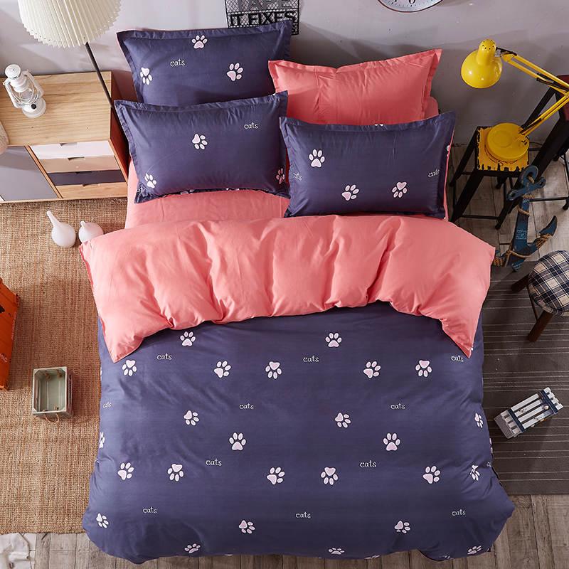 gatos de pie marca impreso juego de cama edredones individual twin completa queen king size infantil