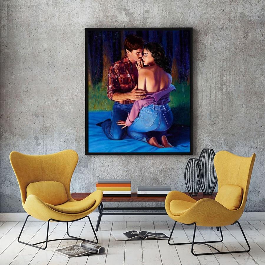 A2335 Sexy Männer Frauen Kuss Umarmung Figuren Landschaft. HD ...