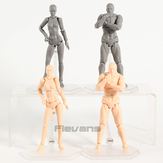 Body Figma Archetype Next He / She Flesh Gray Color Ver. Deluxe PVC Action Figure Collectible Model Toy 1