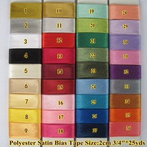 Image 2 - Free shipment Polyester Satin Bias Binding Tape,size: 20mm,textile cloth,Chinese suit,$12 for 100m DIY sewing garment item Black