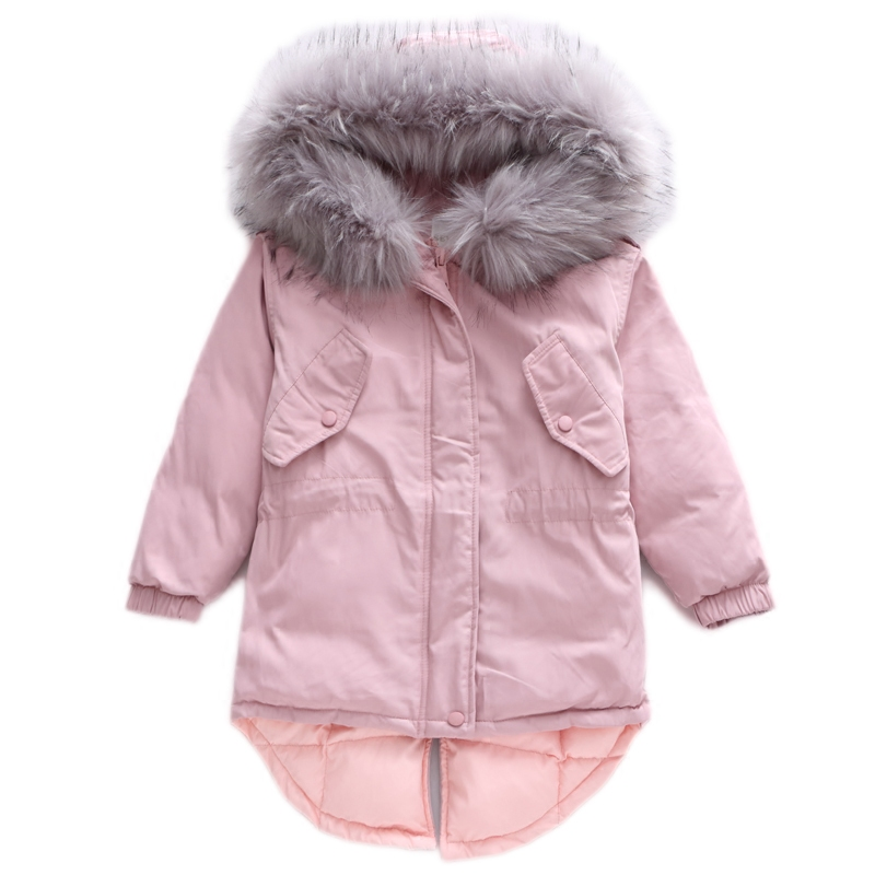 Hooded Down Jackets For Girls Teenagers Winter Warm Fur Coats And Jackets 2017 Brand Children Clothing 4 5 6 7 8 9 10 11 12 13t mmc brand children s winter thick warm brief style gradient splice high quality hooded down coats for girls 90