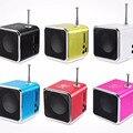 Alto-falantes td-v26 mini speaker portátil micro sd tf music player mp3 rádio fm estéreo usb pc para computador mp4