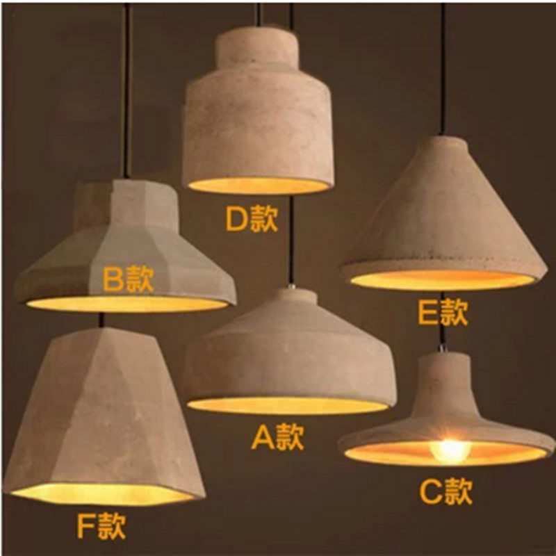Nordic Retro Industria Cement Pendant Lights personalized Bar/Cafe/Dining room/Bedside hanging lights Modern simple Pendant lamp eiceo nordic ancient art cement resin creative pendant lamp minimalist retro cement lampshade for indoor cafe bars decor light