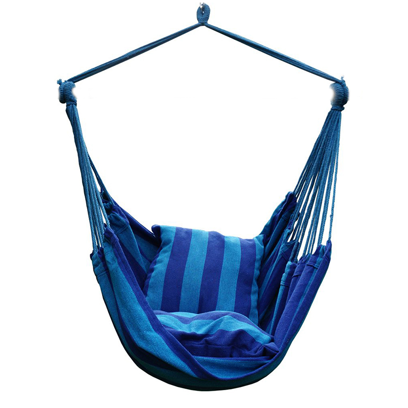 Garden Hammock Swing Chair Hanging Bed With 2 Pillows For Outdoor Adults Kids Leisure Hammock Hanging Chair