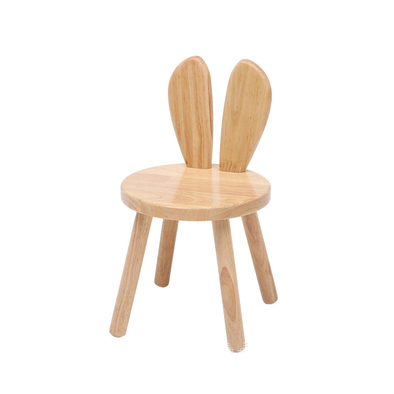 Kids Cartoon Wooden Chair Household Children Study Chair Multi-function Dining Chair With Backrest Kindergarten Kids Stool
