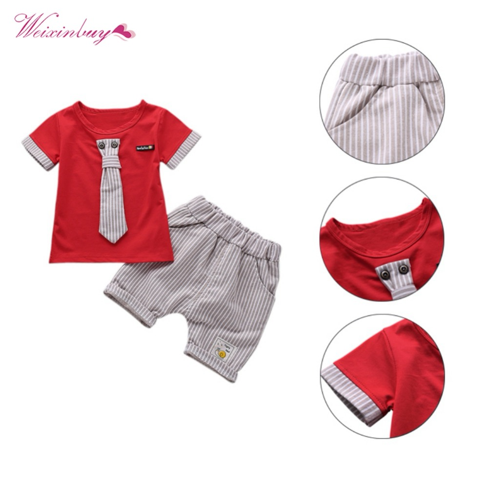 2018 Boys Suits  Newborn Baby Boy Clothes Set 1-4 Years Striped Summer Children Clothing 2018 Summer 2018 Boys Suits  Newborn Baby Boy Clothes Set 1-4 Years Striped Summer Children Clothing 2018 Summer