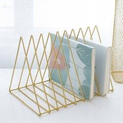 Skandynawska minimalistyczna metalowa trójkątna półka na biurko salon biurko szkolne regał magazynowy