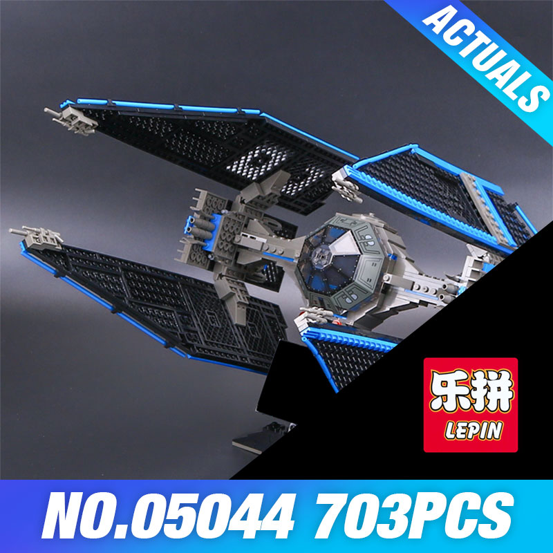 703pcs Lepin 05044 Star Series Wars Limited Edition TIE Interceptor Building Blocks Locking Bricks Model Educational Toys 7181 конструктор lepin star plan истребитель tie interceptor 703 дет 05044