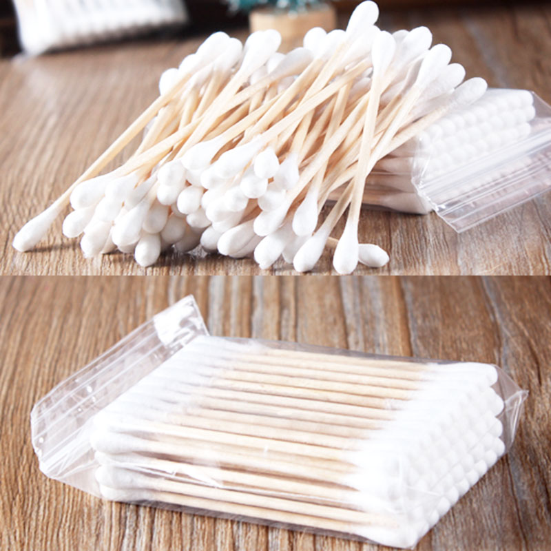 Women Beauty Essentials Makeup Cotton Swab Cotton Buds Make Up Double-head Wood Sticks Nose Ears Cleaning Cosmetics Health Care