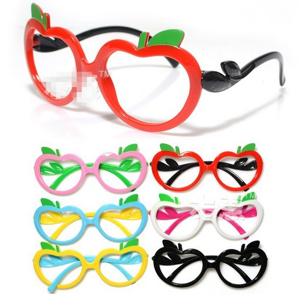 cafc44af720 2014 New Design Very Cute Children Boy Girl Glasses Frame Apple Shaped Spectacle  Frames Without Lens Mix Colors Ship 645090