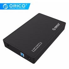 ORICO 3,5 корпус для жесткого диска корпус USB 3,0 5 Гбит/с для SATA поддержка UASP и 8 ТБ дисков для ноутбуков настольных ПК ЕС вилка только
