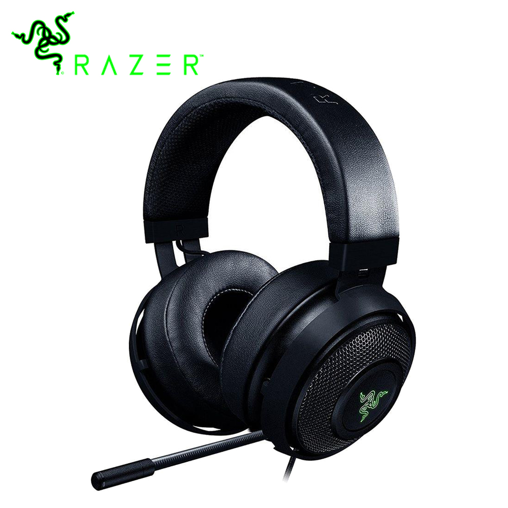 Razer Kraken 7.1 Chroma V2 Gaming Headset Digital Microphone Oval Ear Cushions Chroma Lighting Virtual Surround Sound Headphone