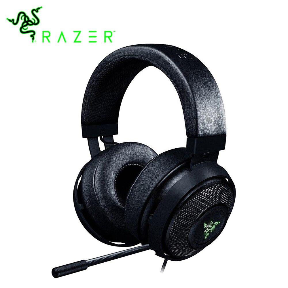Razer Kraken 7.1 Chroma V2 Gaming Headset Microfono Digitale Ovale Cuscinetti Auricolari Chroma Illuminazione Virtuale Surround Cuffie Audio