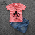 Summer Children Suits Boys Clothing Set 2PCS T-Shirt Jeans Kids Clothes Casual Sport Suits Girl Clothing Set Children Clothes