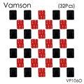 Vamson 32 pçs/set 16 pcs superfície curva monte base + 16 pcs 3 m etiqueta para gopro hero 5 4 3 + câmera esporte vp106o xiaomi yi sj400