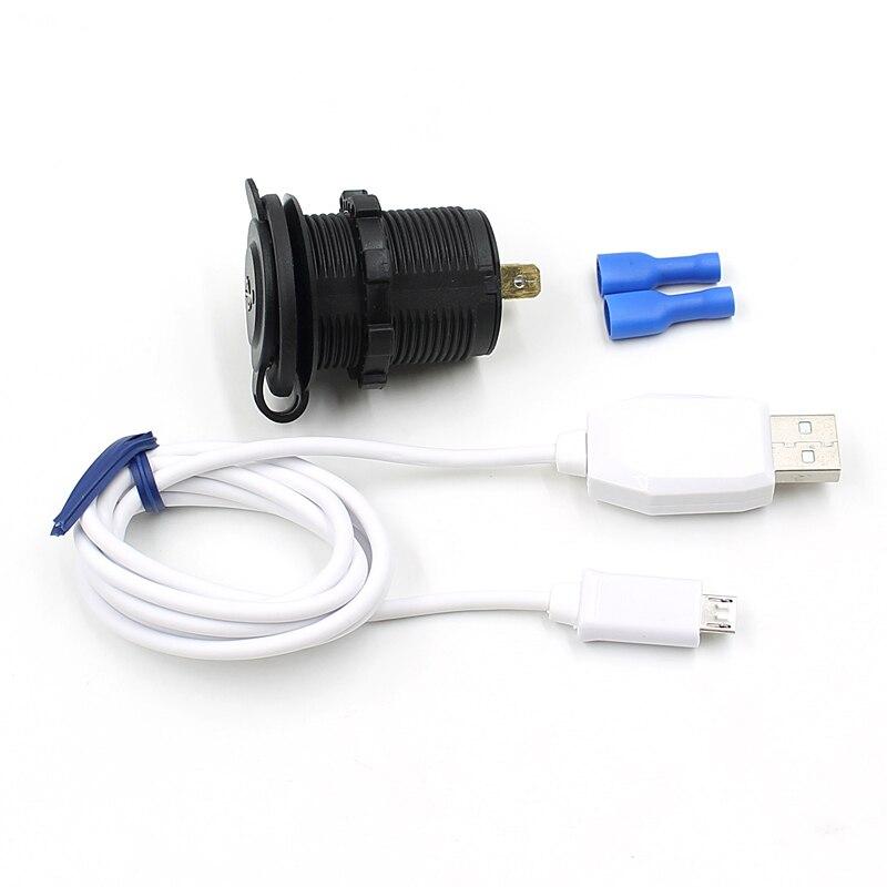 Новый двойной USB Автомобильное Авто-прикуриватели гнездо Splitter 12 В Зарядное устройство Адаптеры питания на выходе с Android Дата линия