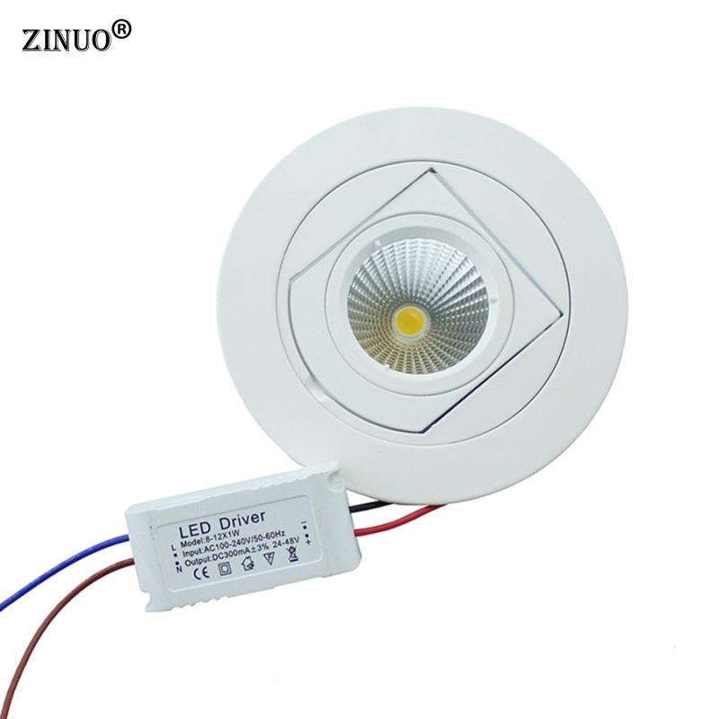 ZINUO 10W Indbygget COB Led Downlight 90 Degree Rotation LED Ceiling - Indendørs belysning - Foto 3