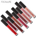FOCALURE Brand Pro Makeup Waterproof liquid lipstick batom Tint Red Velvet True Brown Nude Matte Lipstick Colourful Maquiagem
