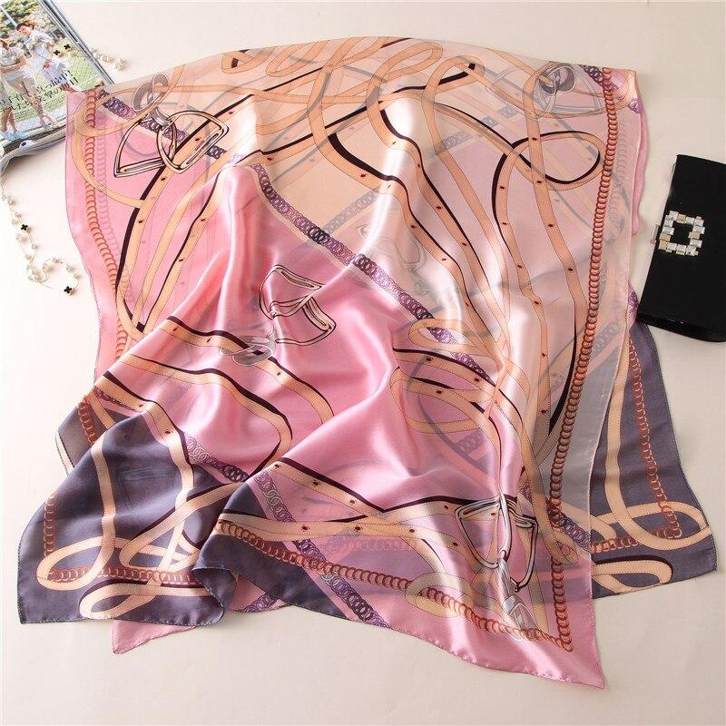 2019 luxury brand spring summer women   scarf   fashion Shawl Ladies   Scarves     Wraps   print silk   scarves   pashmina stoles echarpe female