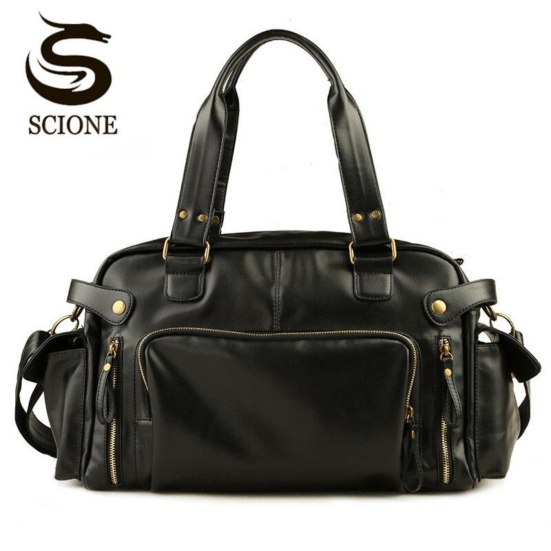 Men's Briefcase Bag Business Handbags Crossbody Bags Casual Male Travel Bag High Quality PU Leather Messenger Bags