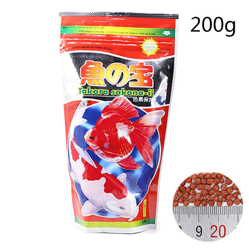 Aquarium Fish Food Small Goldfish Tropical Carp Forage Grains Protein Feeding Parrot Healthy 100/200g