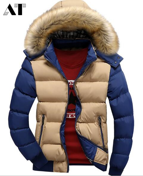 Men's Winter Jackets Thick Hooded Fur Collar Parka Men Coats Casual Padded Men's Jackets Male