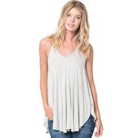 FGirl T Shirts Tops Clothes For Women Pale Grey Racerback Flowy Cami Top Crop Top T