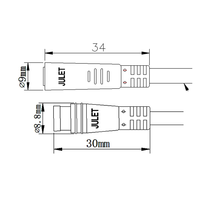 Okfeet Julet 2 3 4 5 6 Pin Waterproof Cable Electrical