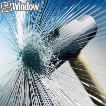 Sunice Security Window Film Transparent Protective Film Self-adhesive Stickers Wrap Car/Home Window Glass Film 90CMx600CM