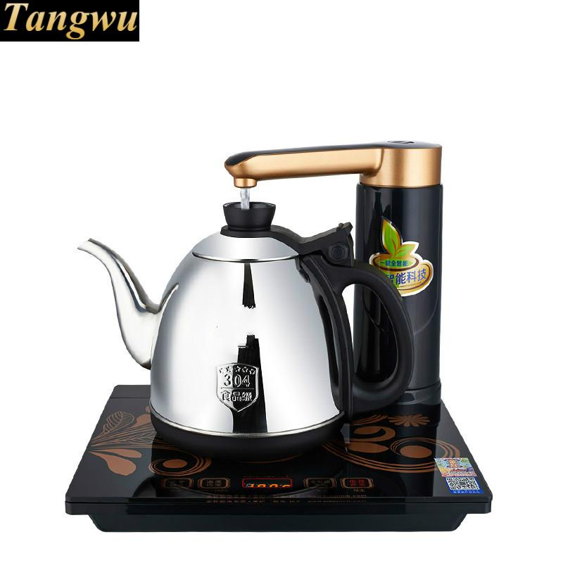 Full intelligent electric teapot automatic water tea sets kettle full stove automatic water filled electric kettle set of the tea with stove