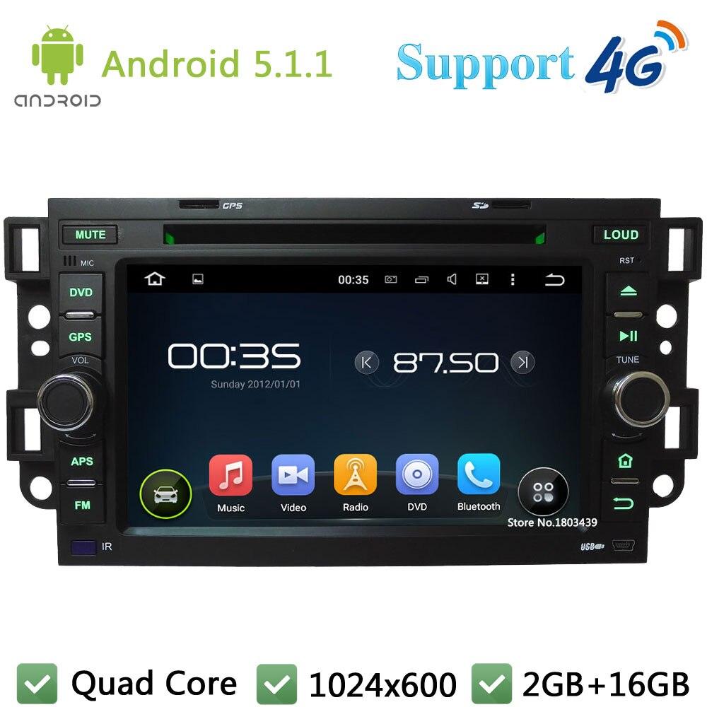 QuadCore Android 5.1 Car DVD Player Radio Stereo 4G For Chevrolet Daewoo Aveo Matiz Kalos Gentra Captiva Epica Spark Optra Tosca