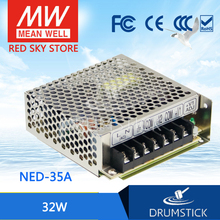 цена на Redsky [freeshipping12] MEAN WELL original NED-35A meanwell NED-35 32W Dual Output Switching Power Supply