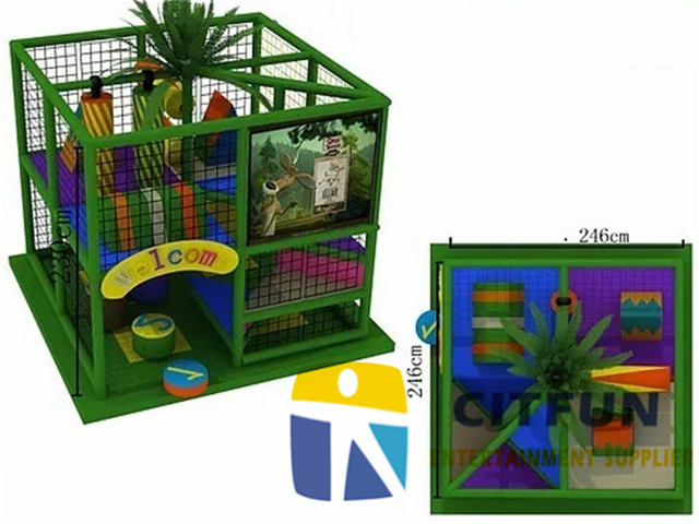 CE certificated small indoor playground equipment for home CIT ...