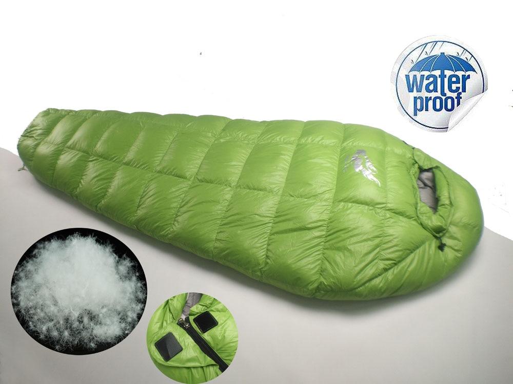 Camping Sleeping Bag Winter, Ultralight Sleeping Bag for Camping, Duck Down Winter Sleeping Bag for Camping, Hiking FREE FIRE camping