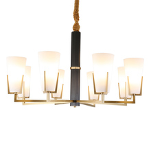 Real Full Copper Chandelier for Bedroom Dining Living Room Modern Nordic Bronze Glass Indoor Lighting