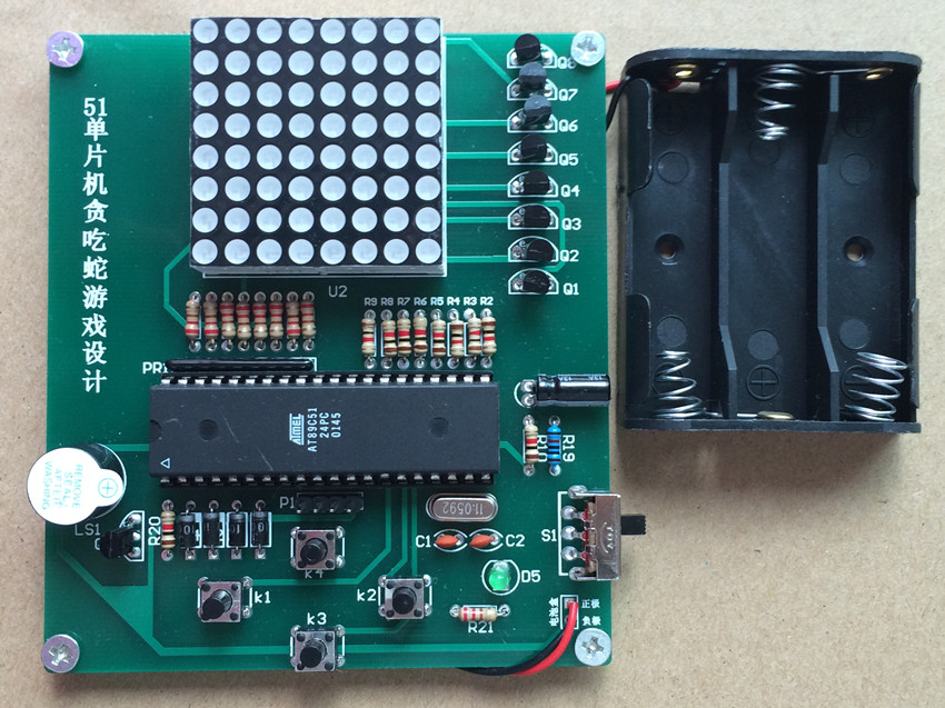 For 51 Microcontroller Snake Game Design PCB Electronic DIY Production Practice learning Skills Assembly Suite 88*100MM PCB PCBAFor 51 Microcontroller Snake Game Design PCB Electronic DIY Production Practice learning Skills Assembly Suite 88*100MM PCB PCBA