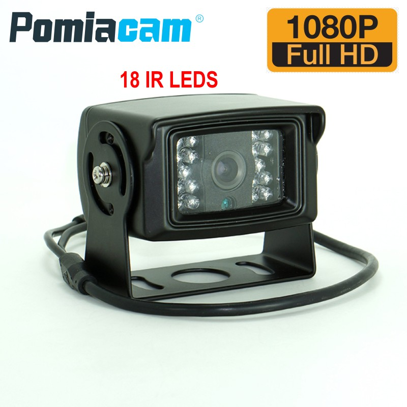 AV760 1080P AHD Camera 4PIN BNC DC12V Waterproof Van Bus Lorry Car Rear View Camera IR